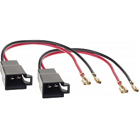 Speaker Adapter Kabel(2x) Div.modellen Opel-Renault-Seat-VW-Citroën-Nissan-Mercedes-Dacia-Skoda-Seat