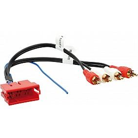 Aktieve Systeem Adapter Mini ISO > Cinch Audi A3/ A4/ A6/ A8/ TT