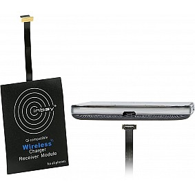 Inbay Inductie Qi universele ontvanger Micro USB bovenlader