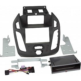 2-DIN Paneel Inbay® Ford Transit Connect / Tourneo Connect 2013-2019 Kleur: Zwart