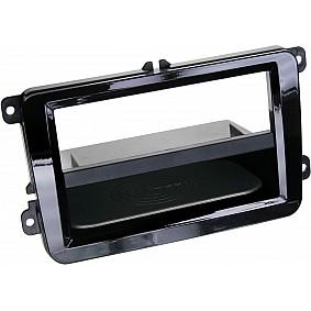 2-DIN Paneel Inbay® Seat - Skoda - Volkswagen Kleur: Piano Zwart