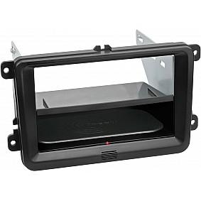 2-DIN Paneel Inbay® Seat - Skoda - Volkswagen Kleur: Zwart
