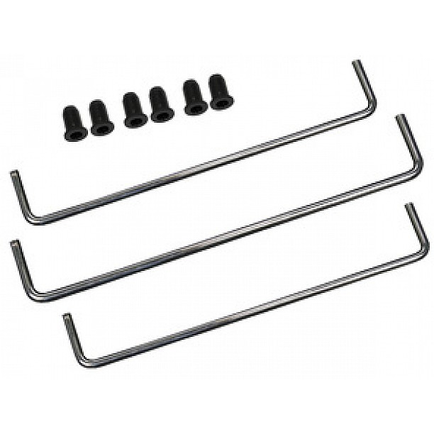 6 mm Luidspreker Gril Chrome stainless steel strips voor 300 mm chassis - 3part set. 2x