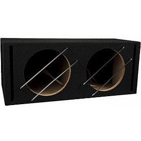AUDIO SYSTEM Dubbele lege behuizing. Bassreflexbehuizing van 2x 42 Liter voor 2x 30 cm Bass