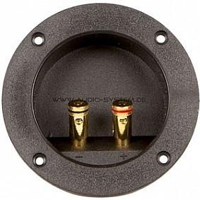 AUDIO SYSTEM 2-pins ronde aansluiting met stevige, vergulde (vierkante zonder vergulde) aansluitinge