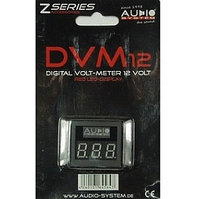AUDIO SYSTEM Digitale Volt Meter met rode LED verlichting