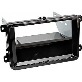 2-DIN Paneel met aflegbakje. Seat - Skoda - Volkswagen Kleur Piano Zwart
