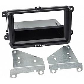 2-DIN Paneel Padbay incl. iPad Mini bracket Seat - Skoda - Volkswagen Kleur: Zwart