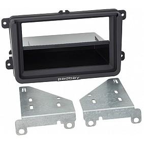 2-DIN Paneel Padbay Rubber Touch incl. iPad Mini bracket Seat - Skoda - Volkswagen Kleur: Zwart