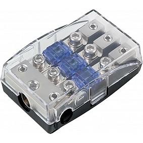 Mini ANL zekeringhouder (zilver )  1 x 35 mm² + 2 x 20 mm²