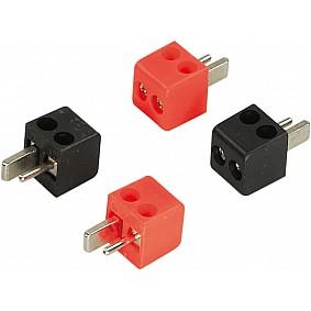 Speaker DIN plugs 2 x red / 2 x black > 2,5mm²