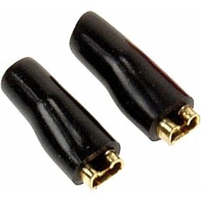 Vlakstekkern 2,8 mm zwart 50 Stuks