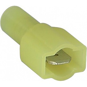 Vlakstekker volledig geisoleerd Geel 4.0 - 6.0mm² (100 stuks)