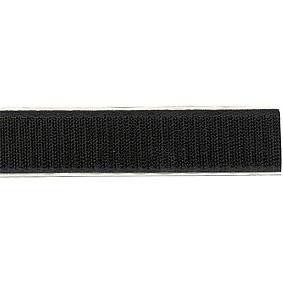 Klittenband Breedte 20 mm / Lengte 25 meter Zwart