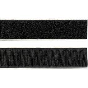 Klittenband Breedte 20 mm Lengte 1 meter Zwart (1 stuks)