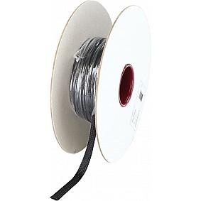 Gevlochten Kabelbescherming 8 - 17 mm Polyester Zwart Lengte 50 meter