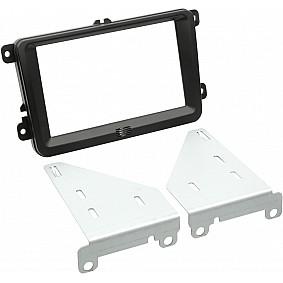 2-DIN Paneel Seat - Skoda - Volkswagen - Kleur: Zwart