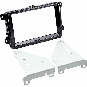 2-DIN Paneel Seat - Skoda - Volkswagen - Kleur: Piano zwart
