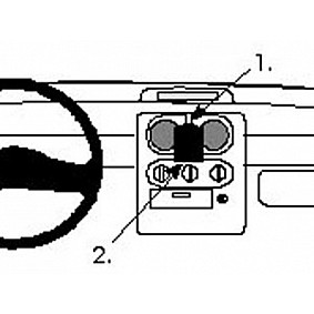 Houder - Brodit ProClip - Renault Twingo 1995-2005 Center mount