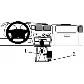 Houder - Brodit ProClip - Toyota HiLux 1998-2005 Console mount