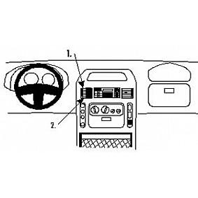 Houder - Brodit ProClip - Nissan Interstar- Opel Movano - Renault Master Center mount