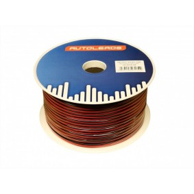 2x 0.75mm² Luidspreker Kabel. Per rol van 100 meter rood/zwart