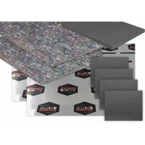 AUDIO SYSTEM DOOR KIT 2.0 2x Silence fleece + 2x Alubutyl 3000+ 4x ALU Sheet 250 + 1x Neoprene foam