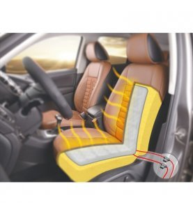 Stoelverwarming universeel voor 1 stoel / 2 Carbon pads / 2 standen schakelaar