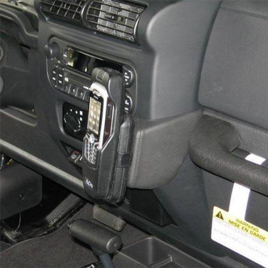 Houder - Kuda Jeep Wrangler (nieuwe vorm) 2005-2007 Kleur: Zwart