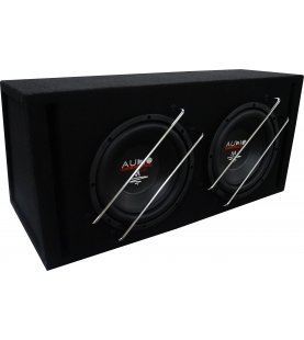 M-Serie EVO HIGH EFFICIENT Subwoofer 2x30 liter box met  BR10-2 + 2x M10 EVO 2x400/300 watt