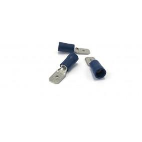 Kabelverbinder geïsoleerd Male blauw 6.3 mm / 1.5 - 2.5 mm² / A: 6mm - B: 0.8mm (100 stuks)