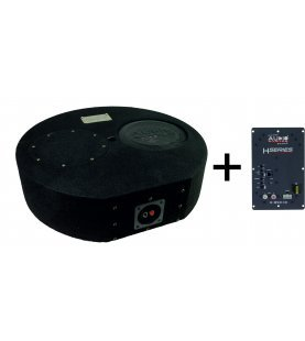 ACTIEF R-SERIE EVO SUBFRAME 30 liter ronde basreflexbehuizing met R 10 FLAT EVO + H-340.1 D