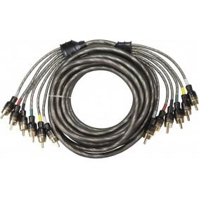 AUDIO SYSTEM HIGH-PERFORMANCE RCA-KABEL 5000mm 6-voudig OFC cinch-kabel