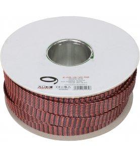 AUDIO SYSTEM Professionele gevlochten kous. Rol van 50 mtr. Diameter 19 tot 45 mm Rood/Zwart