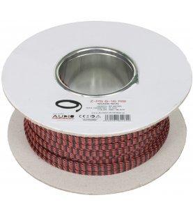 AUDIO SYSTEM Professionele gevlochten kous. Rol van 50 mtr. Diameter 13 tot 30 mm Rood/Zwart