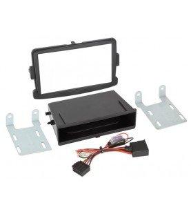 2-DIN Paneel Inbay® Dacia - Opel - Renault Kleur: Zwart