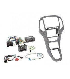 2-DIN KIT+ Radio adapter kit Opel Astra 2009-2016 Titanium Grijs