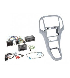 2-DIN KIT + Radio adapter kit Opel Astra 2009-2016 Kleur: Platin Zilver
