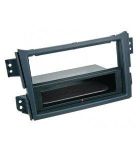 2-DIN Paneel Inbay® Suzuki Splash / Opel Agila 2008-2014 Kleur: Zwart