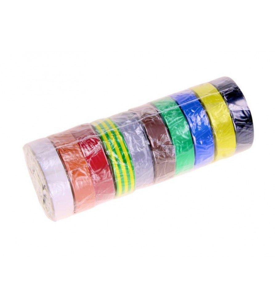 Installatie Tape Breedte 15 mm x Lengte 10 meter Rainbow-Set (10 stuks)