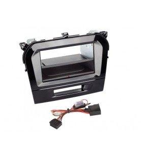 2-DIN Paneel Inbay® Suzuki Vitara 2015-2019 Kleur: Zwart