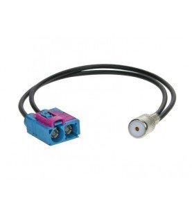 Antenne Adapter Dubbel-Fakra > ISO Audi -Seat -Skoda -Volswagen - Maserati -Scania