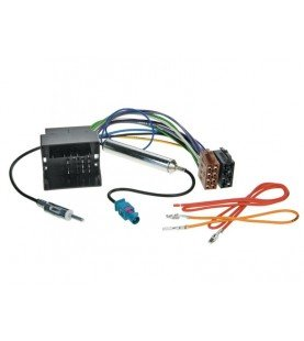 Radio Aansluitkabel DIN Div. modellen Audi- Seat- Skoda- VW - Maserati incl. Antenne Phantom power