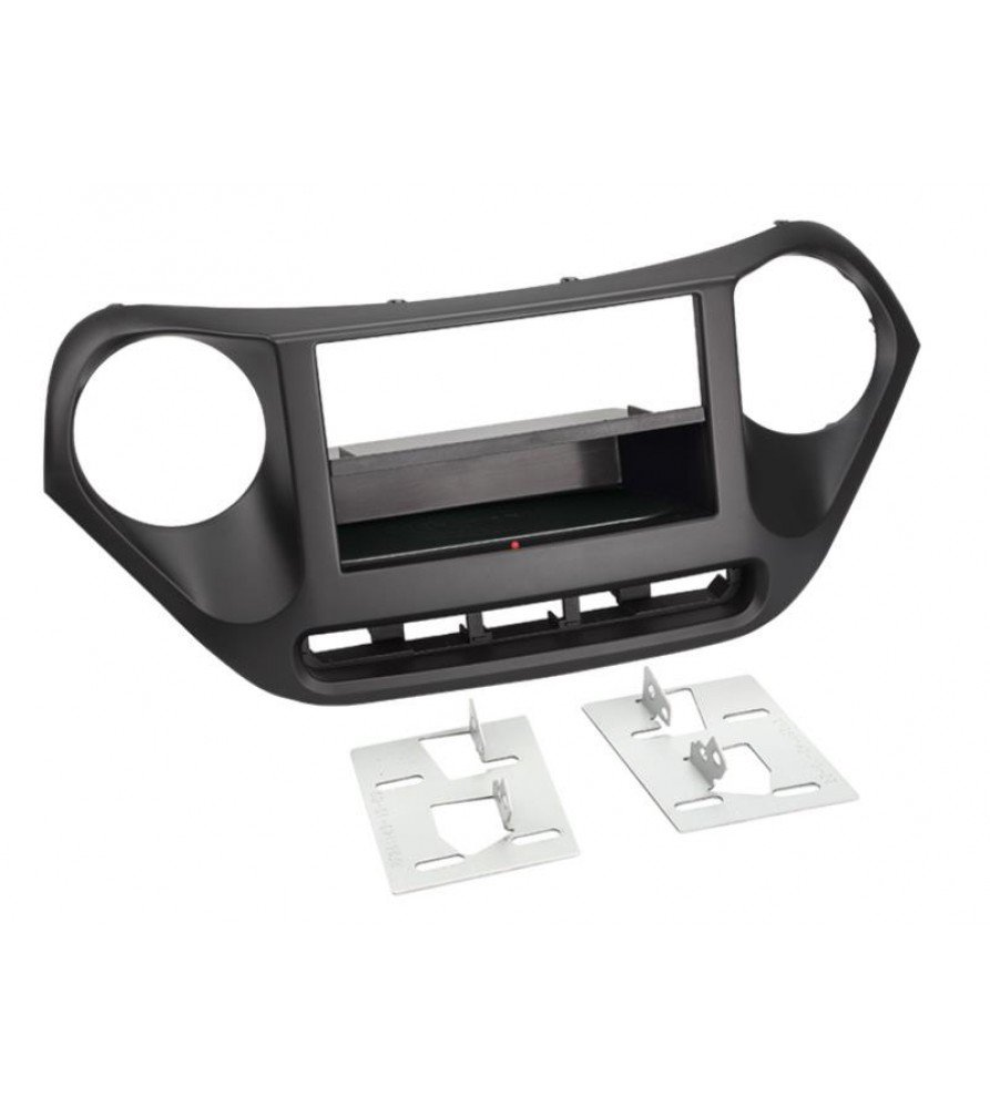 2-DIN Paneel Inbay® Hyundai i10 2013-2019 Kleur: Zwart
