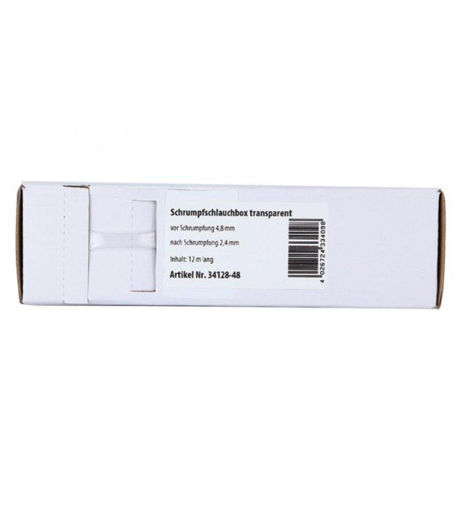 Krimpkous transparant Ø 4.8 mm / Lengte 12 meter
