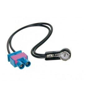Antenne Adapter ISO Dubbel-FAKRA (m) > ISO (m) Audi -Maserati -Scania -Skoda -Seat -Volkswagen