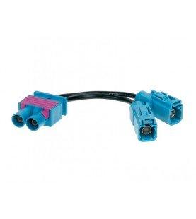 Antenne Adapter Dubbel-FAKRA (m) > 2 x Fakra Z (w) Audi -Maserati -Scania - Skoda -Volkswagen -Seat