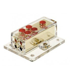 Power distribution block (gold) 1x20 mm² in / 4x10 mm² out