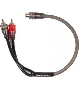 AUDIO SYSTEM HIGH-Performance Cinchkabel 500mm Y-cinch-kabel (2x plug en 1x koppeling)