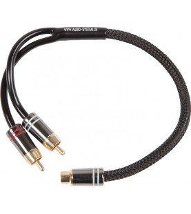 AUDIO SYSTEM HIGH-end cinchkabel 300mm y-cinch (2 x koppel en 1 x stekker)